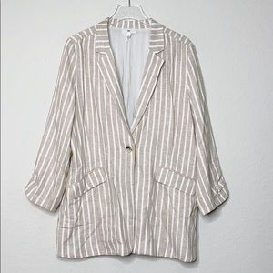 BP Striped Linen Blazer